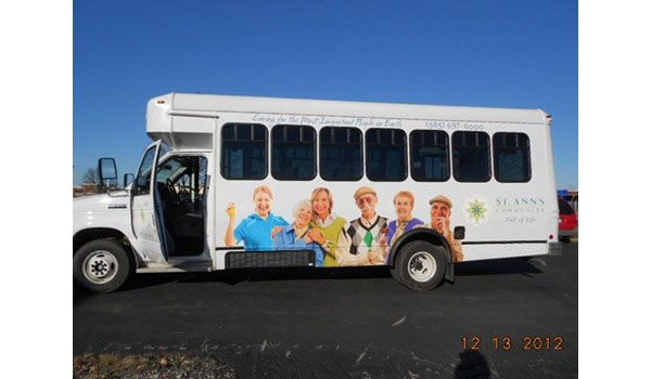 Retirement community bus wrap Rochester NY